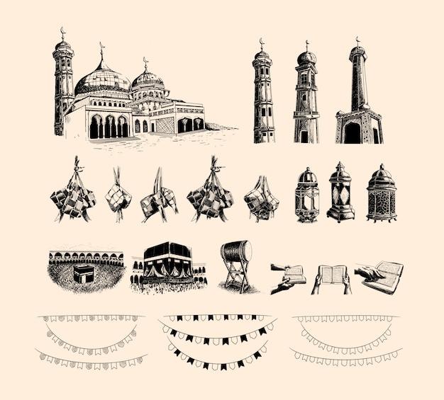 Collection d'éléments islamiques