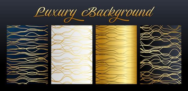 Collection d'éléments de lignes abstraites de luxe