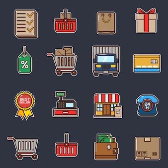 Collection d'éléments de livraison