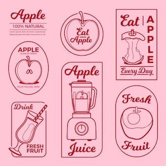 Collection d'éléments de logo minimal apple