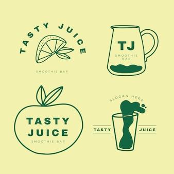 Collection d'éléments de logo minimal en deux couleurs