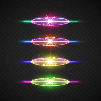 Collection d'éléments de lumière parasite réalistes