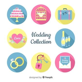 Collection d'éléments de mariage