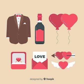 Collection d'éléments de marié