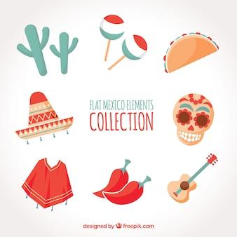 Collection d'éléments de mexique