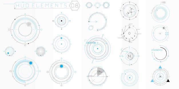 Une collection d'éléments minces pour la conception d'interfaces informatiques et logicielles.