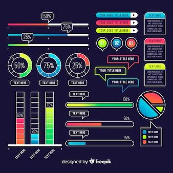 Collection d'éléments modernes d'infographie