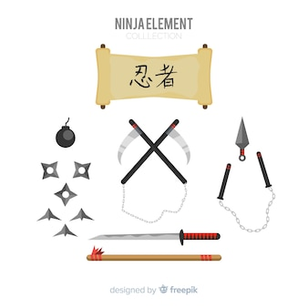 Collection d'éléments ninja