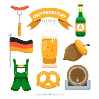Collection D'éléments Oktoberfest Classique Avec Un Design Plat Vecteur gratuit