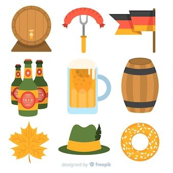 Collection d'éléments oktoberfest design plat