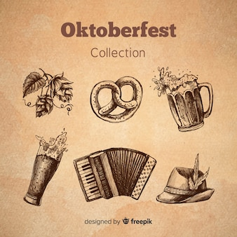 Collection d'éléments oktoberfest