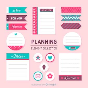 Collection d'éléments de planification