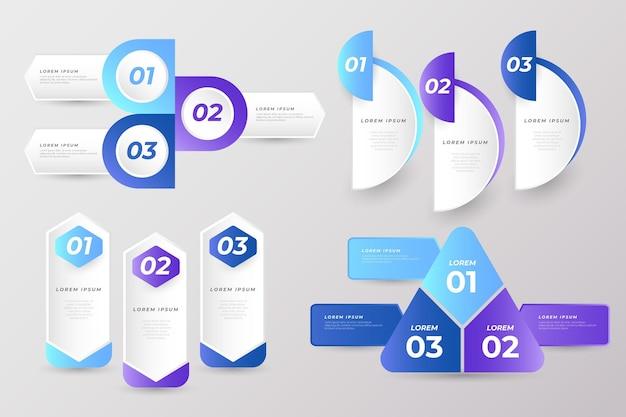 Collection d'éléments de présentation d'entreprise