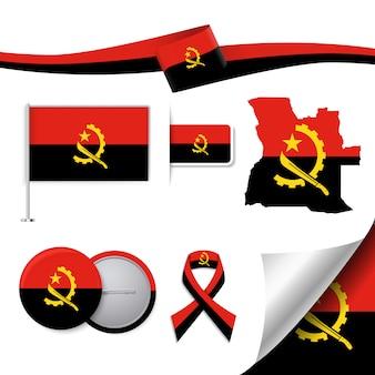 Collection d'éléments représentatifs en angola