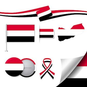 Collection d'éléments représentatifs du yémen
