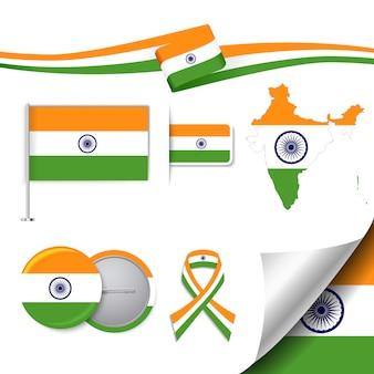 Collection d'éléments représentatifs de l'inde