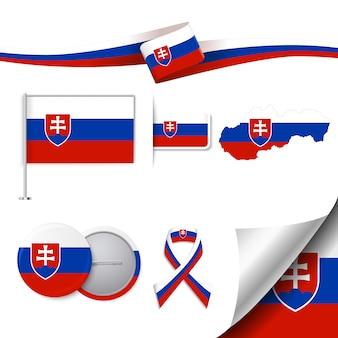 Collection d'éléments représentatifs de slovaquie