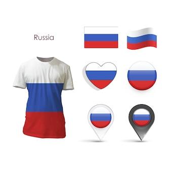 Collection d'éléments russie design