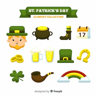 Collection d'éléments de la saint patrick