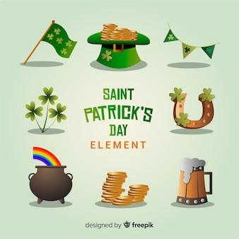 Collection d'éléments de la saint patrick