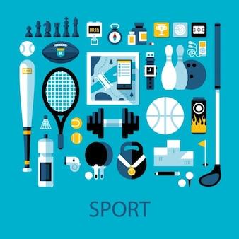 Collection d'éléments sportifs