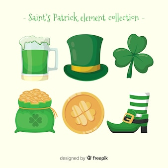 Collection d'éléments de la st patrick