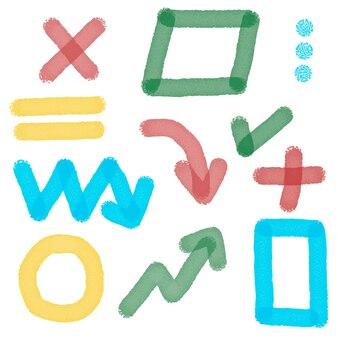 Collection d'éléments de surligneur de marqueur ensemble de marques de surligneur