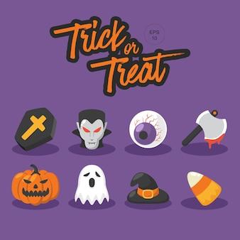 Collection d'éléments trick or treat