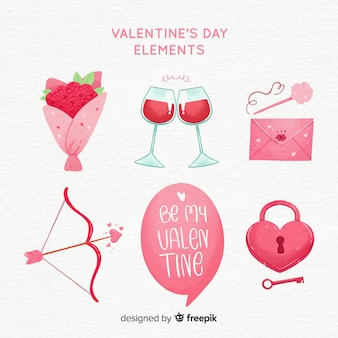 Collection d'éléments valentine