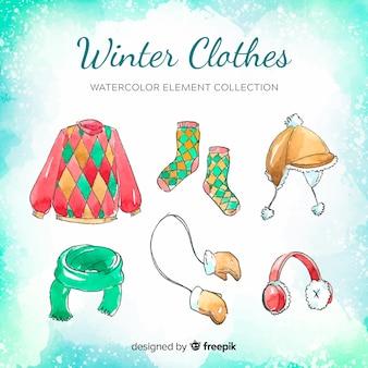Collection d'éléments de vêtements d'hiver