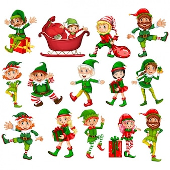 Collection elfs noël