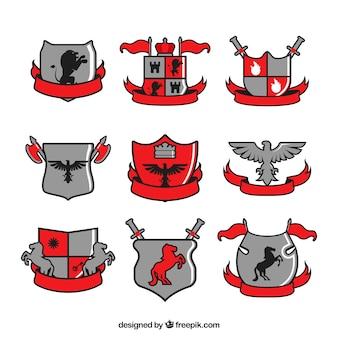 Collection emblèmes de chevaliers