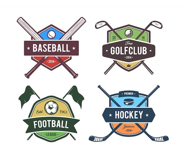 Collection d'emblèmes sportifs