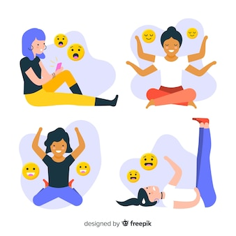 Collection d'émotions de jeunes