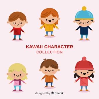 Collection d'enfants charmants dessinés à la main