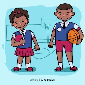Collection d'enfants dessinés à la main