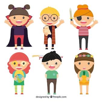 Collection d'enfants mignons halloween déguisé