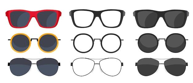 Collection ensemble d'icônes de lunettes de soleil