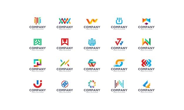 Collection ensemble modèle de logo moderne entreprise entreprise colorée