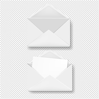 Collection d'enveloppes fond transparent