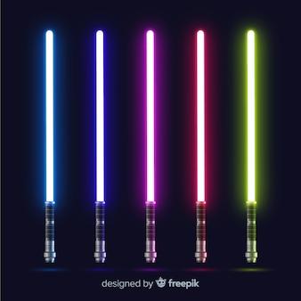 Collection d'épée de lumière colorée