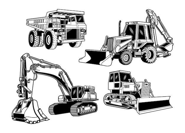 Collection d'équipement de construction