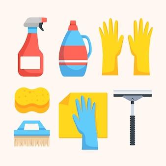 Collection d'équipement de nettoyage de surface