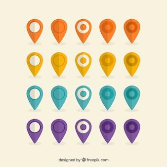 Collection de l'espace réservé colorful