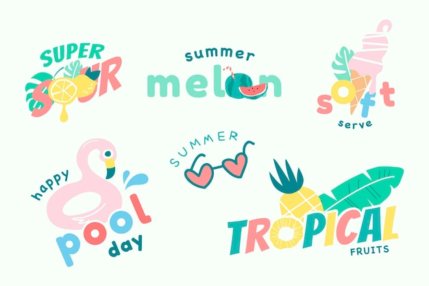 Collection d'été amusante mignonne