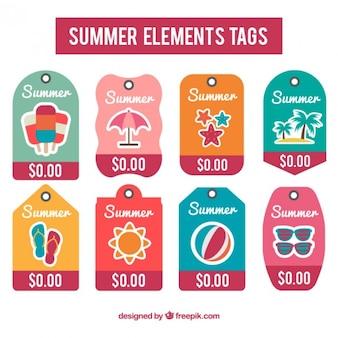 Collection de l'étiquette d'été