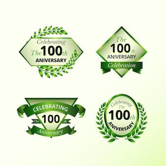 Collection d'étiquettes 100 ans
