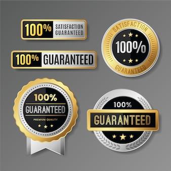 Collection d'étiquettes 100% garantie