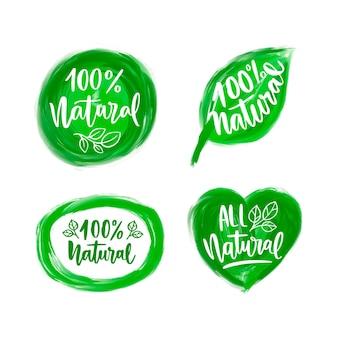 Collection d'étiquettes 100% naturelles