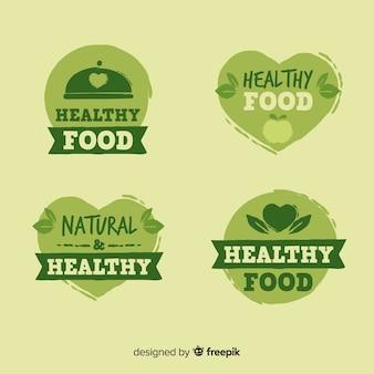 Collection d'étiquettes d'aliments biologiques